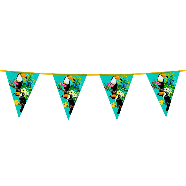 Korting Boland Vlaggenlijn Toekan Turquoise 6 Meter