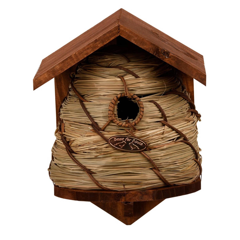 Merkloos Vogelhuisje/nestkastje Bijenkorf Tuindecoratie Nestkast Vogelhuisjes online kopen