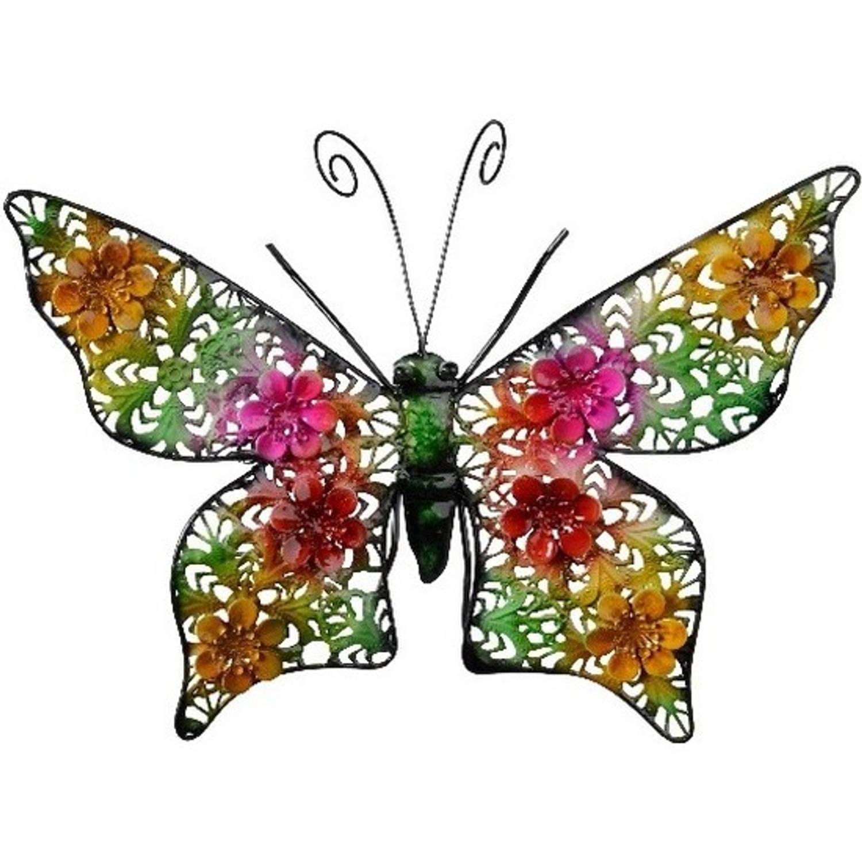 Grote Metalen Vlinder Gekleurd 30 X 22 Cm Tuin Decoratie Tuindecoratie Vlinders Dierenbeelden Hangdecoraties Blokker