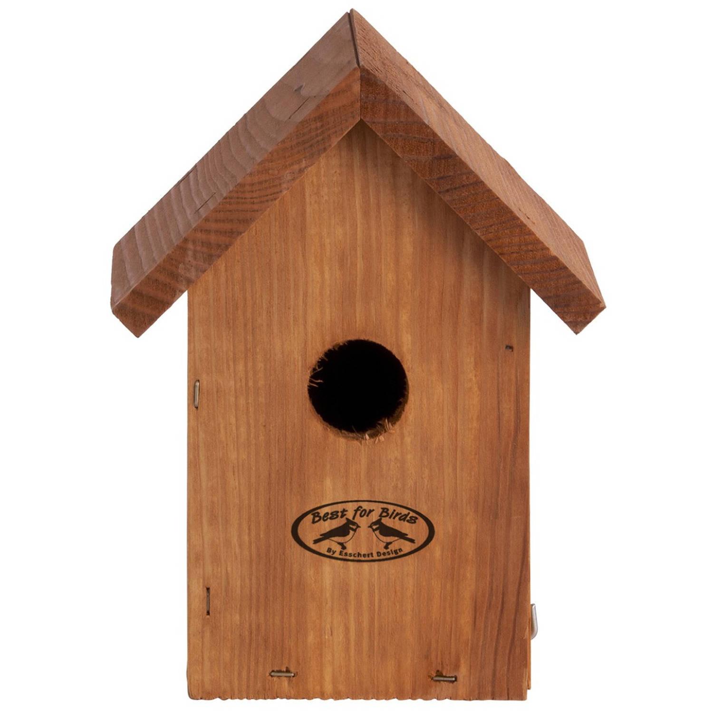 Merkloos Houten Vogelhuisje/nestkastje Winterkoning Tuindecoratie Tuindieren Vogelnest Nestkast Vogelhuisjes online kopen