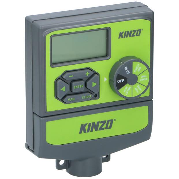 Kinzo Garden multibewateringssysteem - draaiknop - 4/6/8 irrigatiestations - digitaal scherm