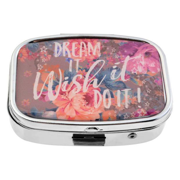 Melady Pillendoosje 4*5.5 cm Meerkleurig Ijzer / glas Rechthoekig Dream it, wish it, do it! MLPI0007
