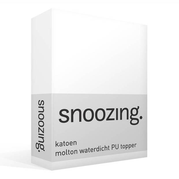 Snoozing - Katoen - Waterdicht PU - Topper - Molton - Hoeslaken - 100x210/220 cm - Wit