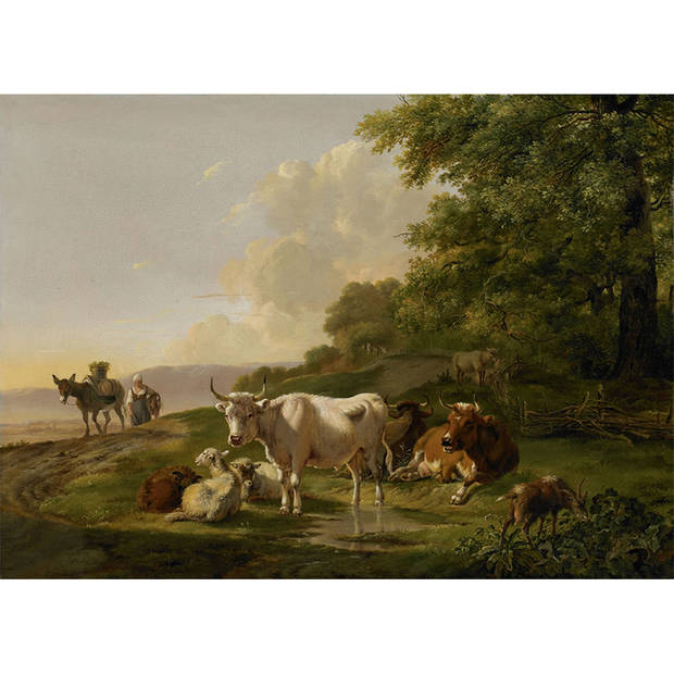 Schilderij Landschap met vee