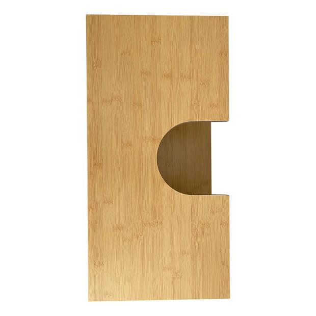 Bamboe wastafel onderkast Mahe met 2 schuifdeuren en 1 plank - Bruin