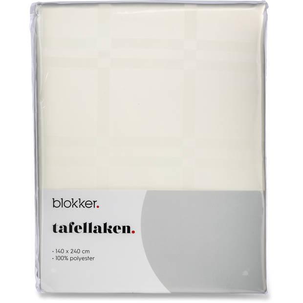 Blokker Tafellaken Damast classic - 140 x 240 cm - wit