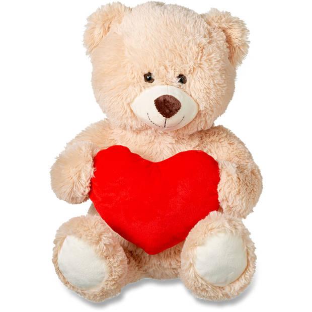 Linda.foundation beer met rood hart - 40cm