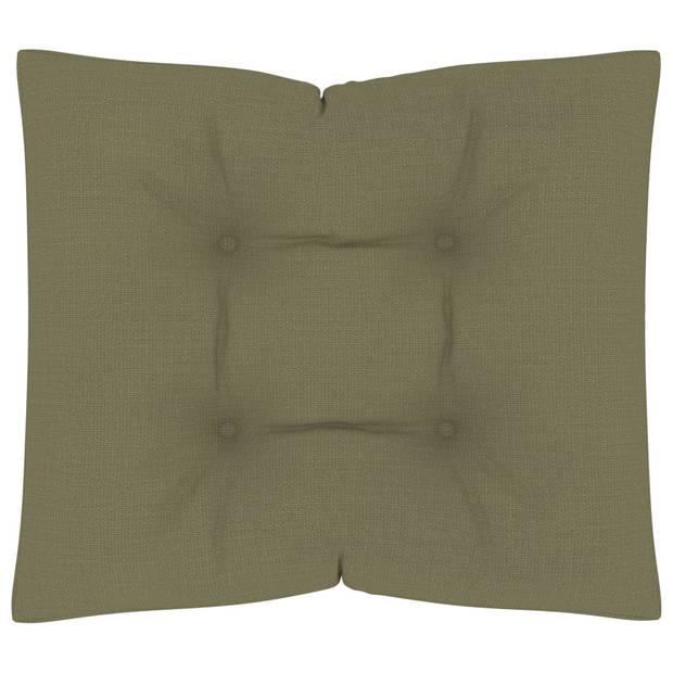 vidaXL Vloerpalletkussen 60x61x10 cm beige
