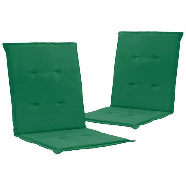 vidaXL Tuinstoelkussens 2 st 100x50x3 cm groen