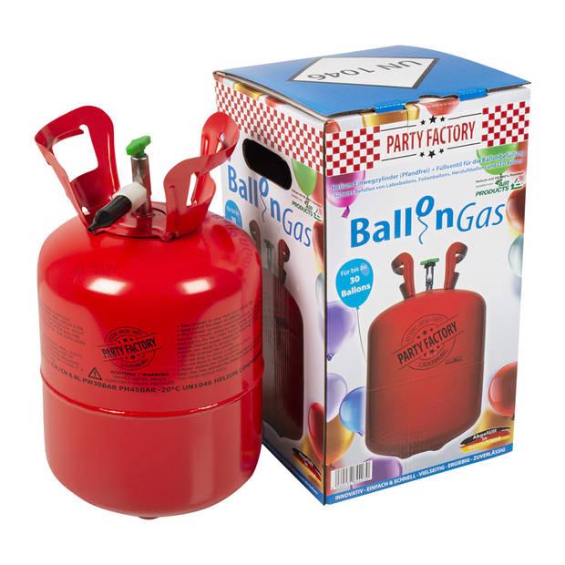 Boland helium tank staal rood 30 latex ballonnen