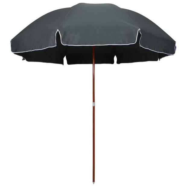 vidaXL Parasol met stalen paal 300 cm antraciet