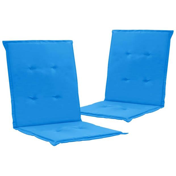 vidaXL Tuinstoelkussens 2 st 100x50x3 cm blauw