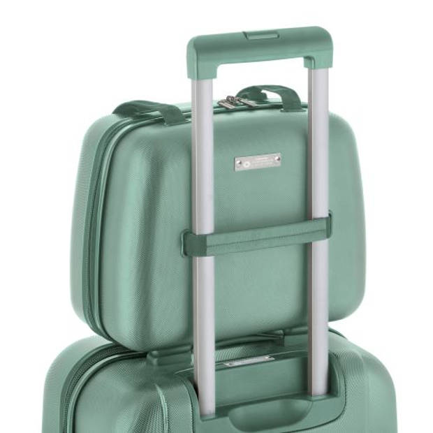 CarryOn 'Skyhopper' Beautycase Make-up Koffer Luxe Toilettas Cijferslot Olijfgroen