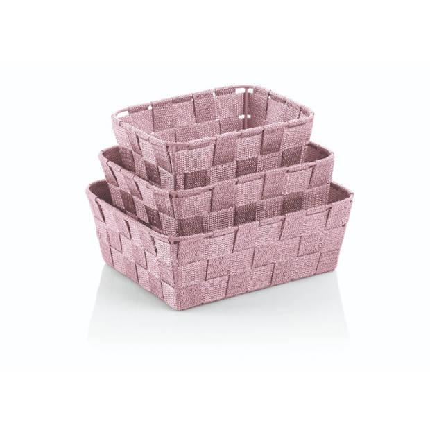 Mand Alvaro Set van 3 Stuks - Roze - Kela