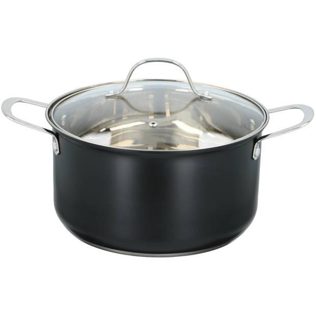 Alpina kookpan met deksel - Ø24 x 13,5cm - 2,5 liter - voor alle warmtebronnen