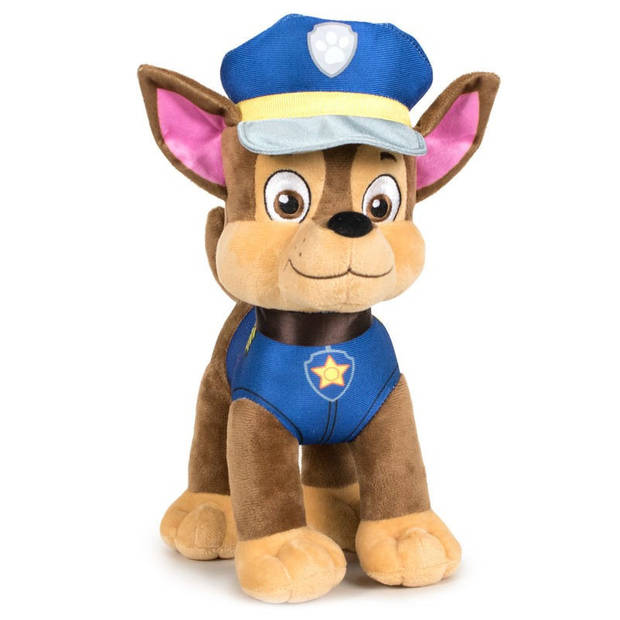 Pluche Paw Patrol knuffel Chase - Classic New Style - 27 cm - Cartoon knuffels - Speelgoed voor kinderen