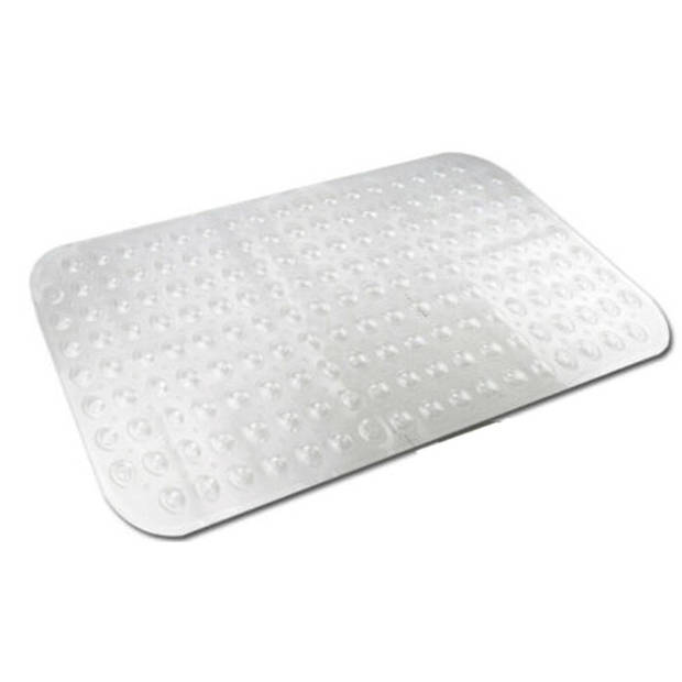 Transparante antislip badmat / douchemat 52 x 53 cm - Douchematten/badmatten - Badkamer accessoires matten