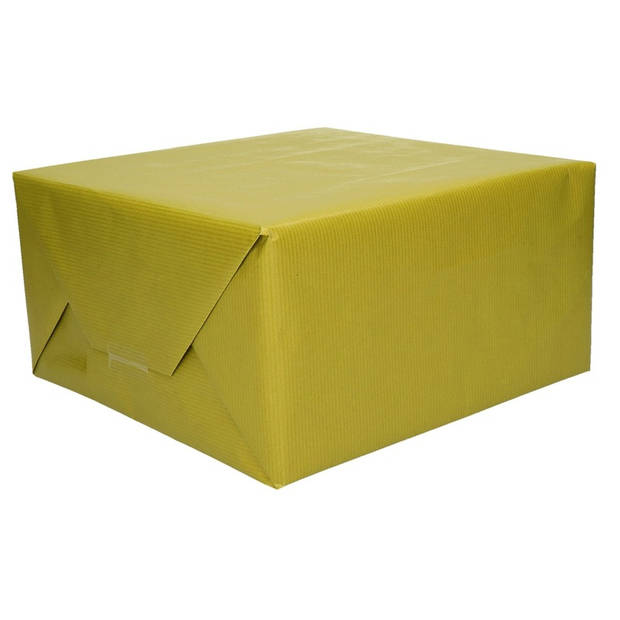 3x stuks rollen Kraft inpakpapier groen - 200 x 70 cm - kadopapier / cadeaupapier / Boeken kaften