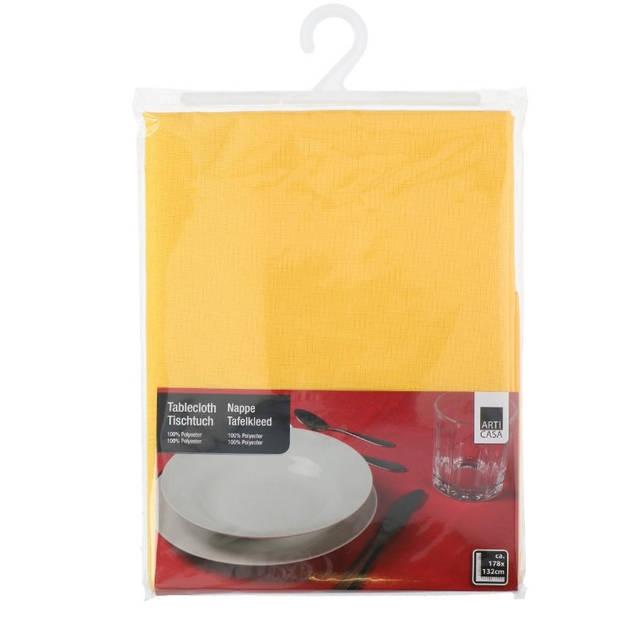 Arti Casa tafelkleed geel178 cm