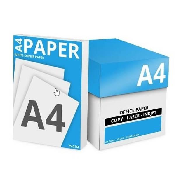 Print / kopieerpapier A4 3000 vellen - blanco printpapier - Niceday