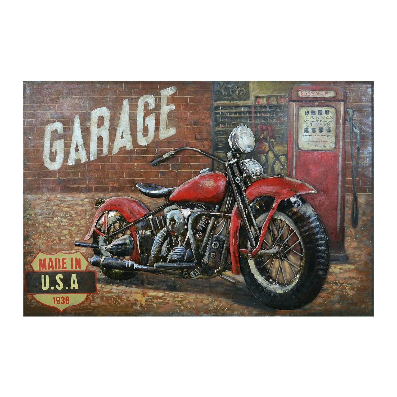 Clayre & Eef Wanddecoratie Motor 120*6*80 Cm Meerkleurig Ijzer Motor 5wa0168