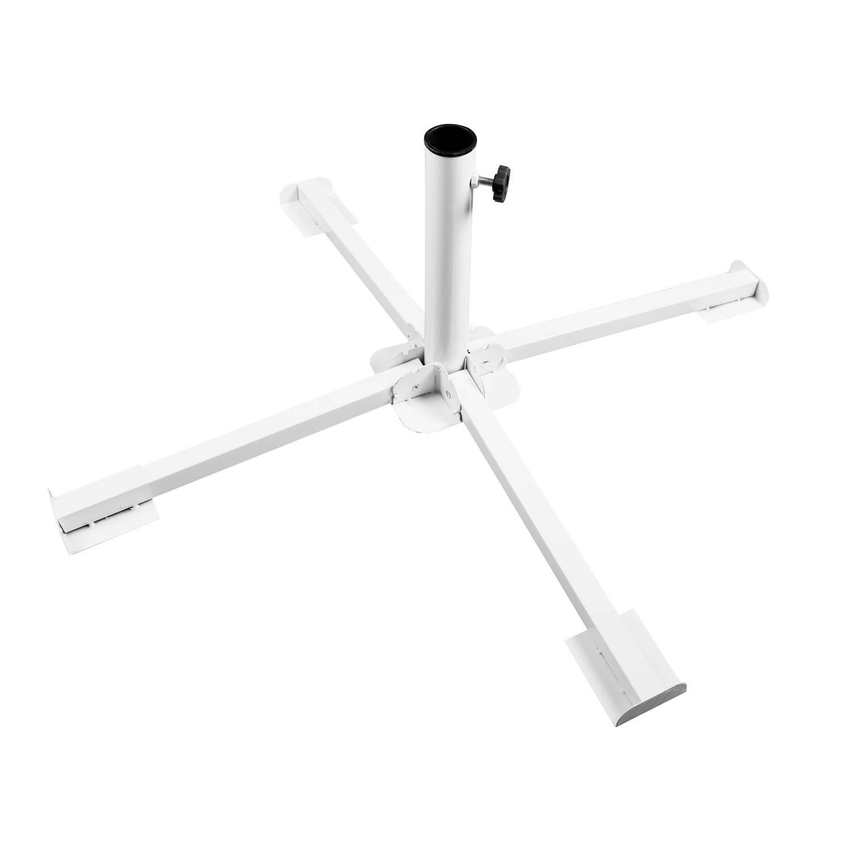Gerimport Parasolvoet Kruis Voor Stokparasol Kruispoot Parasolvoet 25 38mm Wit