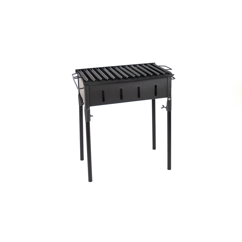 Gerimport - Praktische Barbecue - Gril - BBQ Houtskool of Briketten 45x25x60cm - Zwart