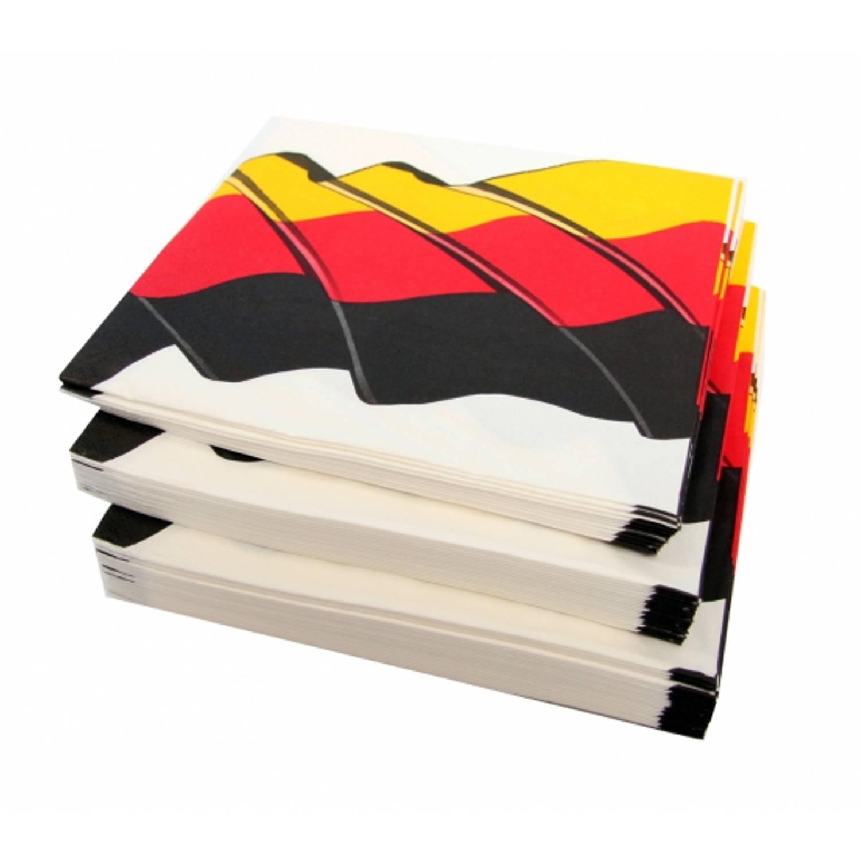 100x Duitsland Landen Thema Servetten 33 X 33 Cm - Papieren Wegwerp Servetjes - Duitse Versieringen/decoraties
