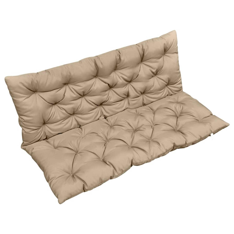 vidaXL Kussen voor schommelstoel 120 cm stof beige