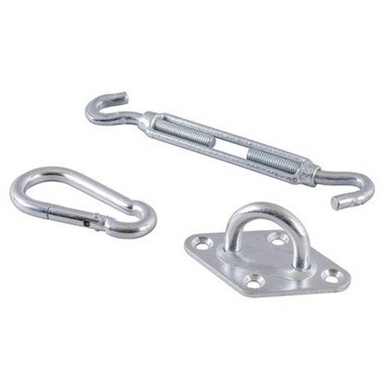 2x Schaduwdoek Haken Ophangset 3 Delig Schaduwdoek Accessoires