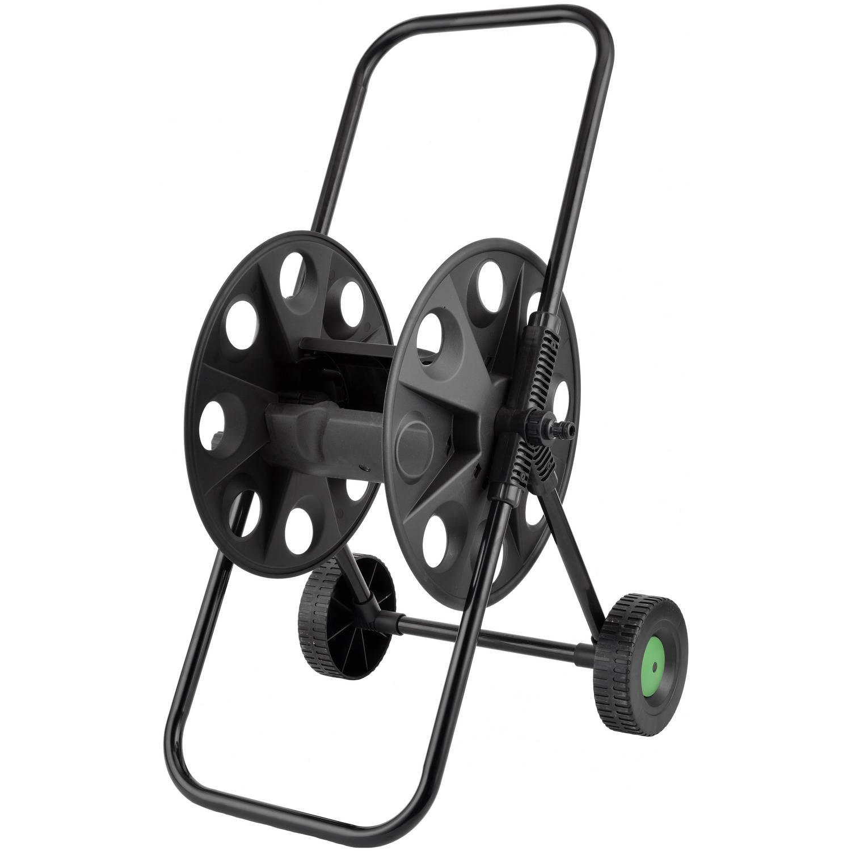 Zwarte Tuinslanghaspel/slangenwagen - Voor 50 Meter Slang - Tuinslangenwagen - Tuinier/tuinslang Ben