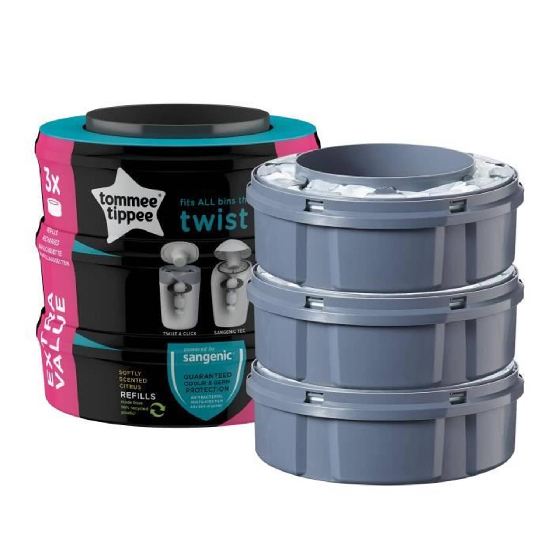 Tommee Tippee - Navulverpakkingen met Twist & Click x3 - Compatibel met TEC-lade