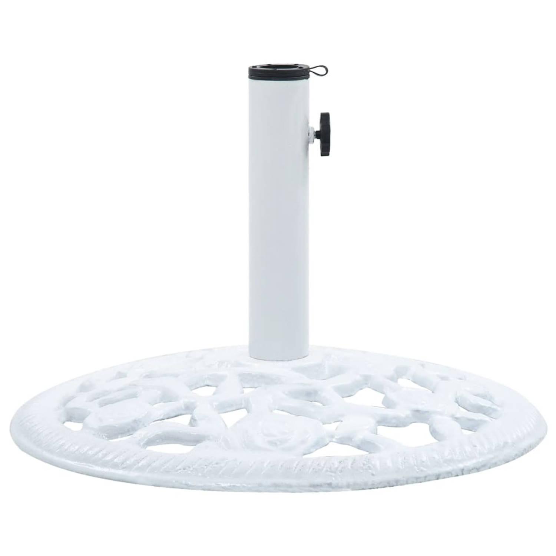 vidaXL Parasolvoet 12 kg 48 cm gietijzer wit