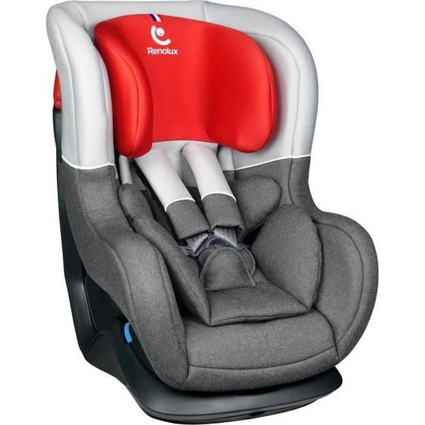 RENOLUX Nieuwe austin Smart - Autostoel met meerdere posities - Groep 0 + / 1 - Rood