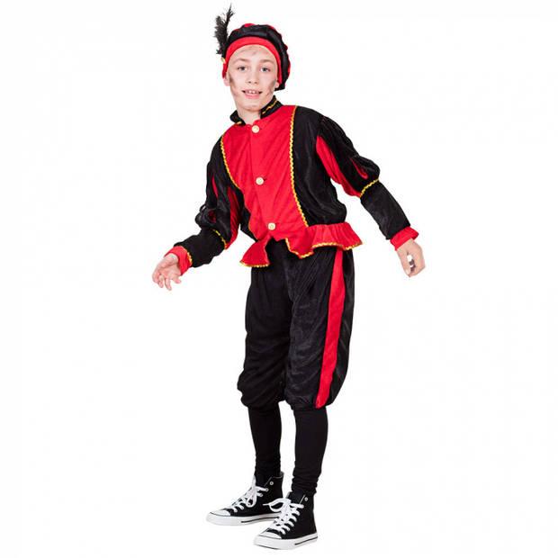 Boland pietenpak junior polyester rood/zwart 116/122