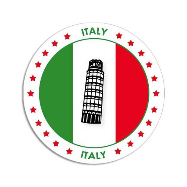 50x Bierviltjes Italie thema print - Onderzetters Italiaanse vlag - Landen decoratie feestartikelen