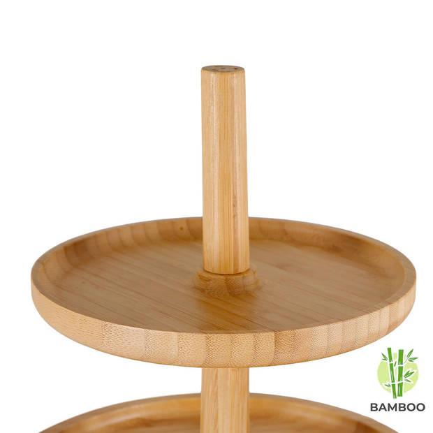 Etagère 3 laags - Hoge kwaliteit Bamboe hout - Houten hapjesschaal -