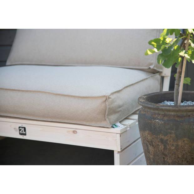 2L Home & Garden Palletkussenset Metro Lounge Beige - 3 delige set