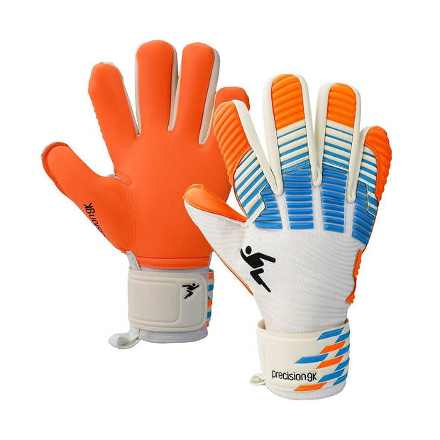 Precision keepershandschoenen latex/EVA oranje/wit