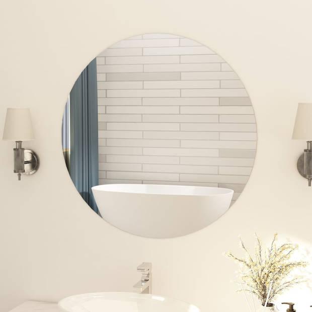 vidaXL Spiegel rond frameloos 80 cm glas