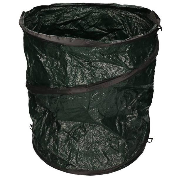 Donkergroene tuinafvalzak opvouwbaar 115 liter - Tuinafvalzakken - Tuin schoonmaken/opruimen - Tuinonderhoud