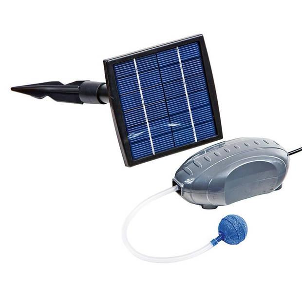HEISSNER Luchtpomp- en zonnepaneelset 120 L/u