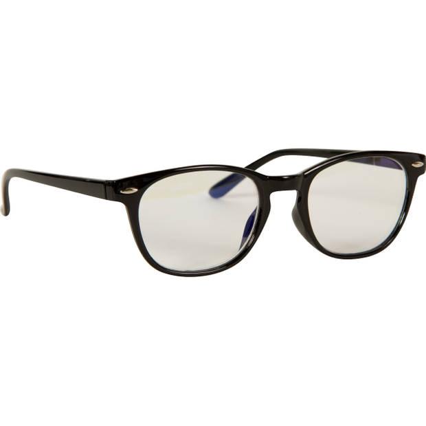 Silvergear Computer Bril - Game bril - Anti Blauwlicht Beeldscherm Filter Bril - Rond - Zwart