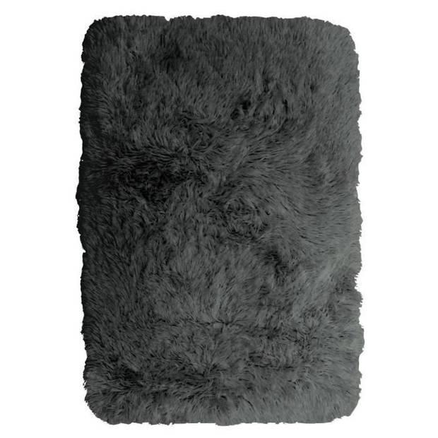 NEO YOGA Kleedkamer voor woonkamer of slaapkamer - Extra zachte microvezel - 60x90 cm - Donkergrijs