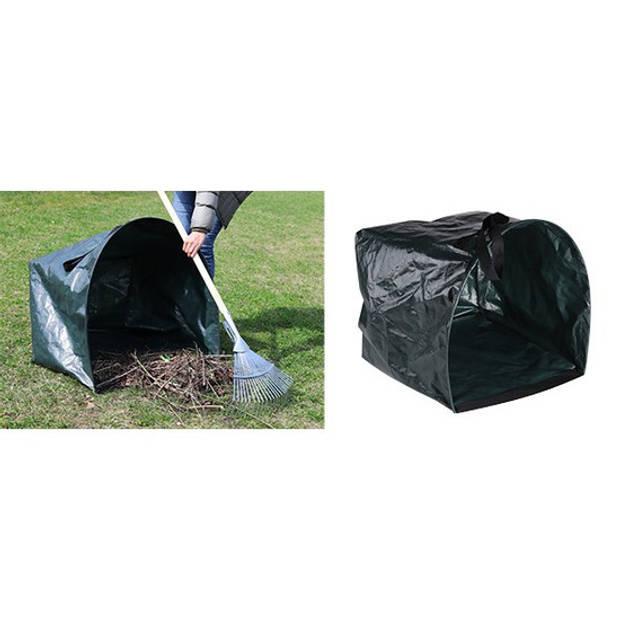 Groene tuinafvalzak opvouwbaar 200 liter - Tuinafvalzakken - Tuin schoonmaken/opruimen - Tuinonderhoud