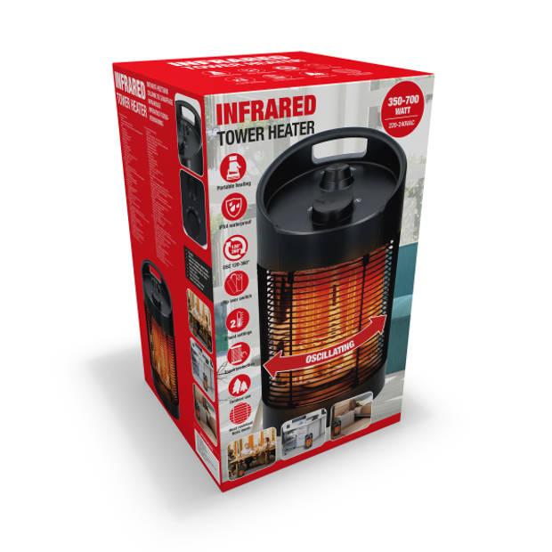 MaxiMondo infrarood draagbare (terras)kachel - 350-700W - binnen/buiten