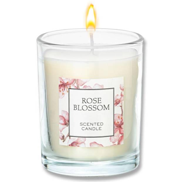 Blokker geurkaars - Rose Blossom - groot
