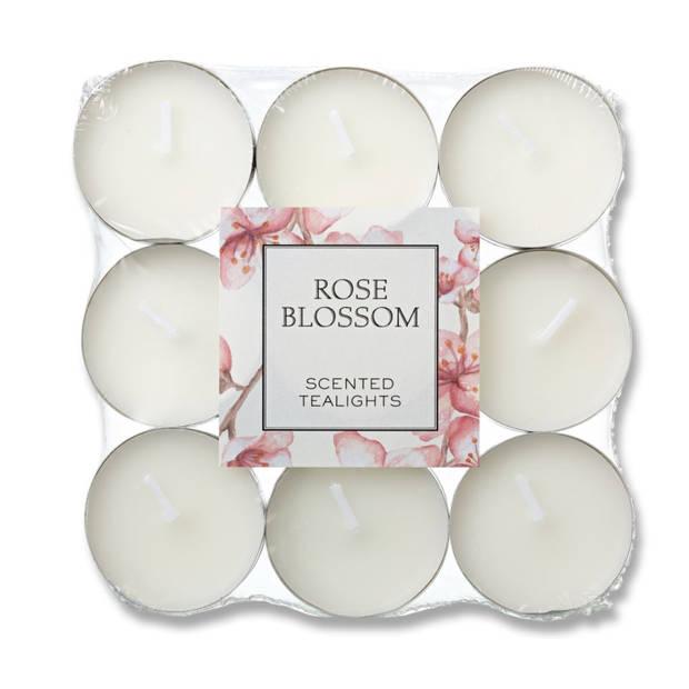 Blokker geurtheelichten - Rose Blossom - 18 stuks
