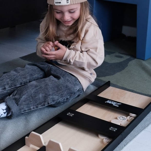Znoet Sjoelbak Zwart incl. stenen - Inklapbaar - 80 x 26,5 cm