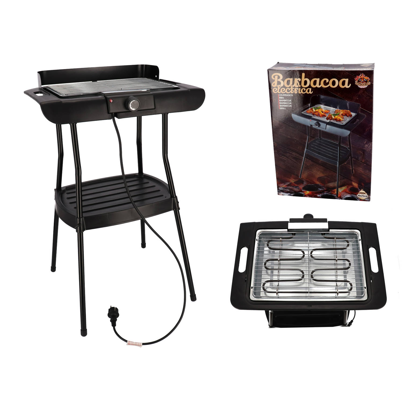 Gerimport - Elektrische Barbecue 2000 Watt - 36x25cm- Zwart
